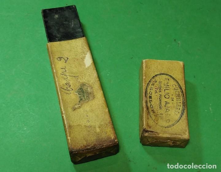 Antigüedades: Caja vacia original para navaja de afeitar BETER modelo XXXX 14. Straight razor, Box, Rasoio - Foto 3 - 163620586