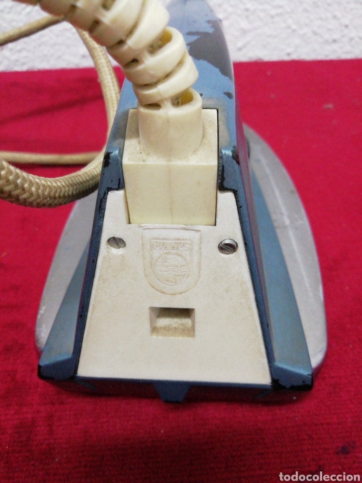 Antigüedades: Antigua plancha eléctrica Philips. HD1121BT. 115/230V - Foto 4 - 163699809
