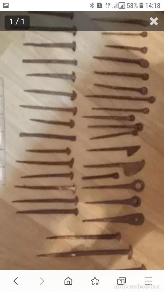 36 CLAVOS DE FORJA (Antigüedades - Técnicas - Cerrajería y Forja - Forjas Antiguas)