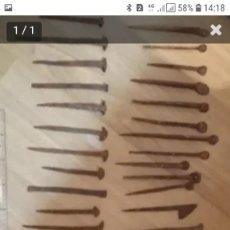 Antigüedades: 36 CLAVOS DE FORJA. Lote 163900126