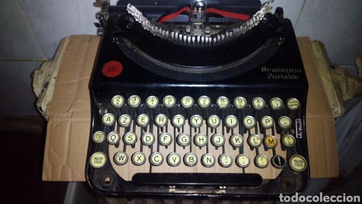 Antigüedades: Maquina de escribir, REMINGTON,Portable(muy buen estado) - Foto 2 - 164016226