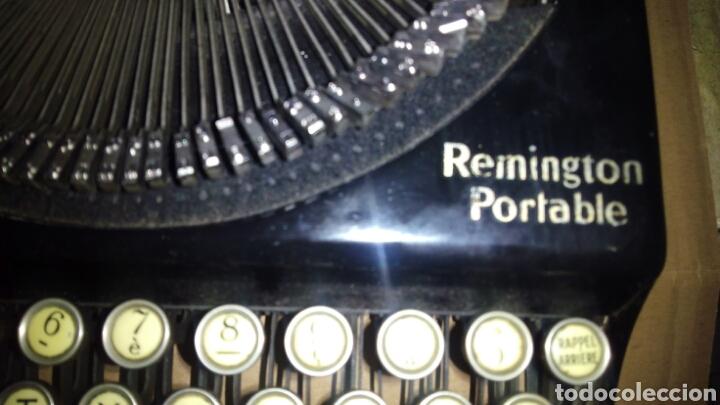 Antigüedades: Maquina de escribir, REMINGTON,Portable(muy buen estado) - Foto 9 - 164016226