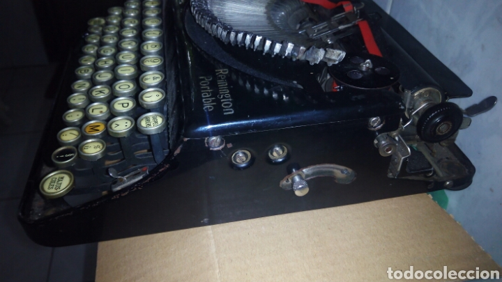 Antigüedades: Maquina de escribir, REMINGTON,Portable(muy buen estado) - Foto 12 - 164016226