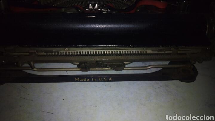 Antigüedades: Maquina de escribir, REMINGTON,Portable(muy buen estado) - Foto 17 - 164016226