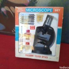Antigüedades: ANTIGUO MICROSCOPIO A ESTRENAR. Lote 164062530