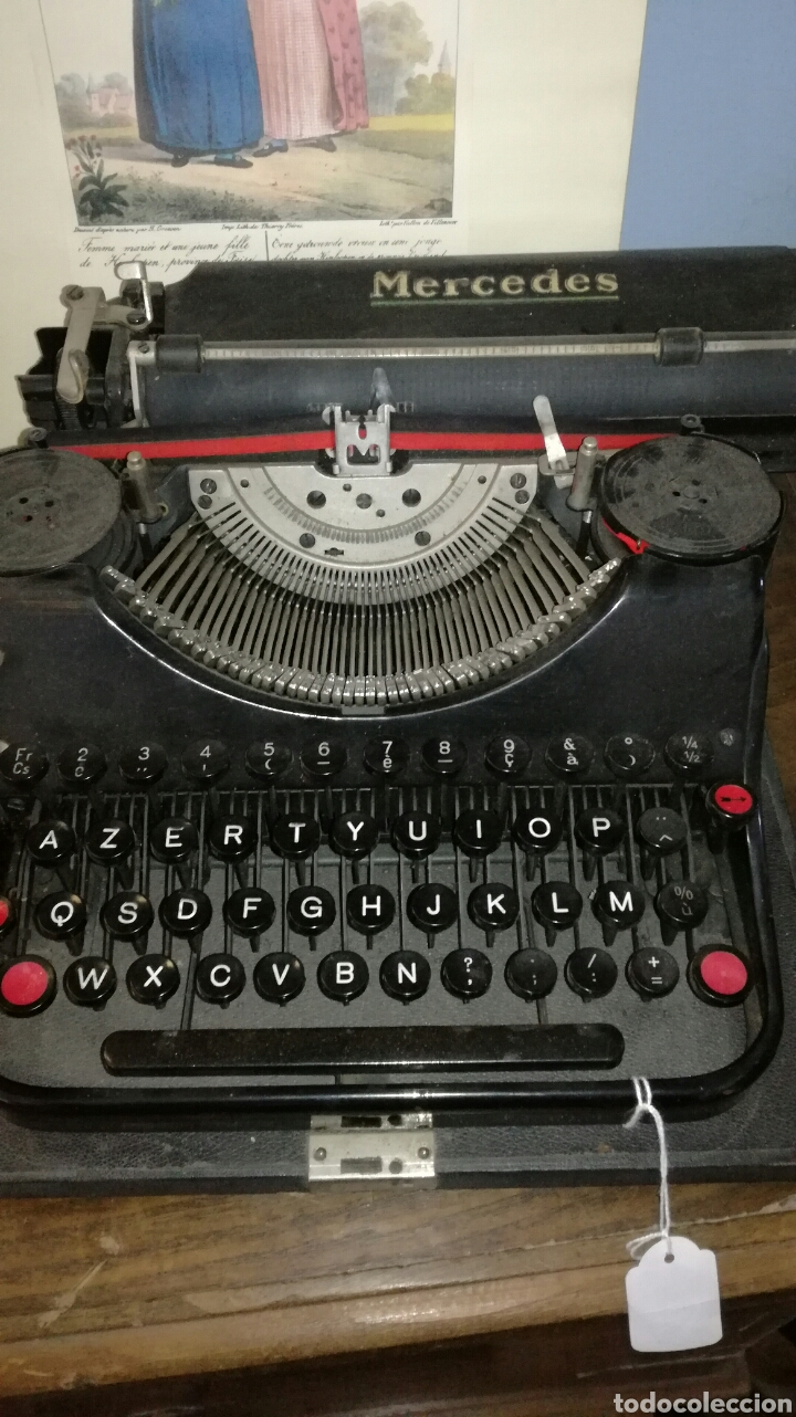 MAQUINA DE ESCRIBIR MARCA MERCEDES (Antigüedades - Técnicas - Máquinas de Escribir Antiguas - Mercedes)
