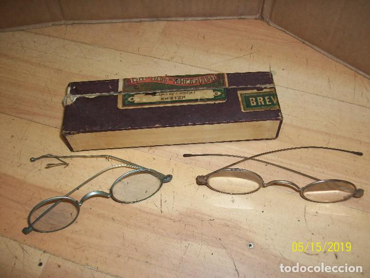 ANTIGUAS GAFAS FRANCESAS CON SU CAJA (Antigüedades - Técnicas - Instrumentos Ópticos - Gafas Antiguas)