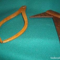 Antigüedades: DIBUJO - COMPAS Y ESCUADRA. Lote 164251606