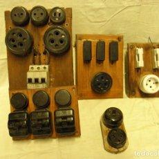 Antigüedades: LOTE 5 CUADROS ELÉCTRICOS ANTIGUOS. Lote 164378658