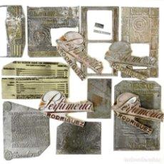 Antigüedades: GRAN LOTE 13 FOTOGRABADOS PLANCHAS DE IMPRENTA. Lote 164522786