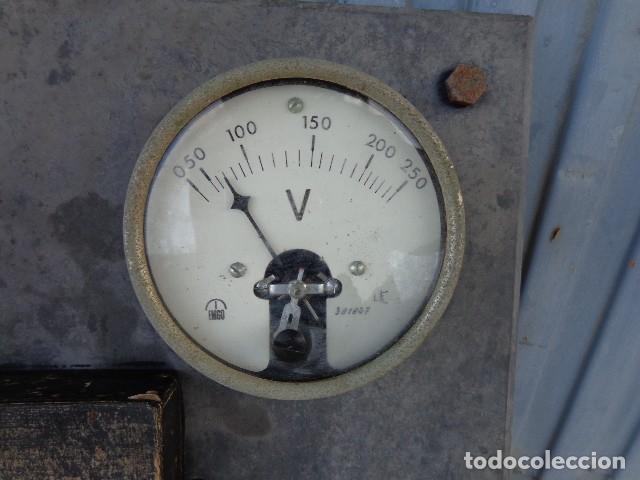 Antigüedades: Cuadro electrico, electricidad antiguo con amperimetros, fusibles, etc... - Foto 2 - 164622138
