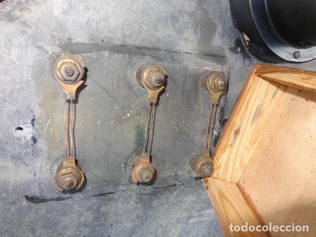 Antigüedades: Cuadro electrico, electricidad antiguo con amperimetros, fusibles, etc... - Foto 4 - 164622138