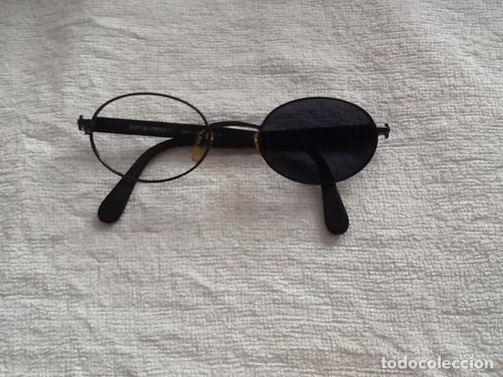 GAFAS SOL GRADUADAS EMPORIO ARMANI MONTURA METAL EN NEGRO (FALTA UN CRISTAL) (Antigüedades - Técnicas - Instrumentos Ópticos - Gafas Antiguas)