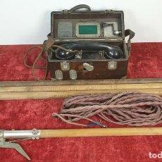 Teléfonos: FERROCARRIL. TELÉFONO FERROVIARIO. STANDARD ELECTRICA. PERTIGA Y CABLE. CIRCA 1950. . Lote 164714086
