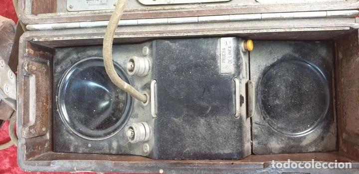 Teléfonos: FERROCARRIL. TELÉFONO FERROVIARIO. STANDARD ELECTRICA. PERTIGA Y CABLE. CIRCA 1950. - Foto 12 - 164714086