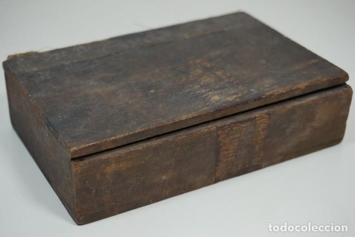 Antigüedades: MICROSCOPIO. ANTIGUA COLECCIÓN DE 24 PREPARACIONES MICROSCÓPICAS c.1870 - Foto 4 - 164730782