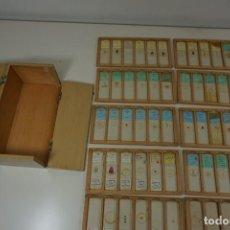 Antigüedades: MICROSCOPIO. COLECCIÓN DE 72 PREPARACIONES MICROSCÓPICAS PROFESIONALES BRITÁNICAS C.1950. Lote 164733018