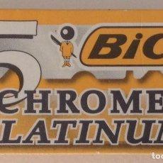 Antigüedades: BIC CHROME PLATINUM CAJA DE 5 PRECINTADA. Lote 164763446