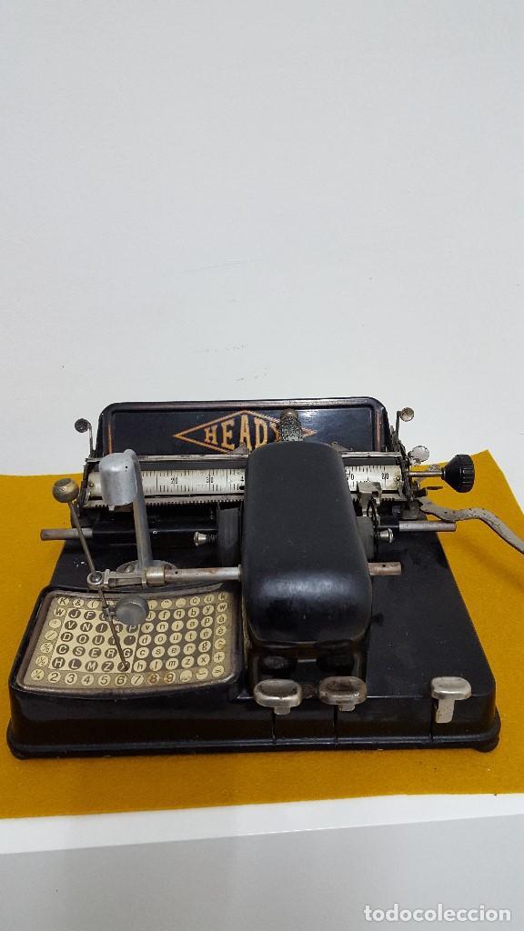 MÁQUINA DE ESCRIBIR HEADY. (Antigüedades - Técnicas - Máquinas de Escribir Antiguas - Otras)