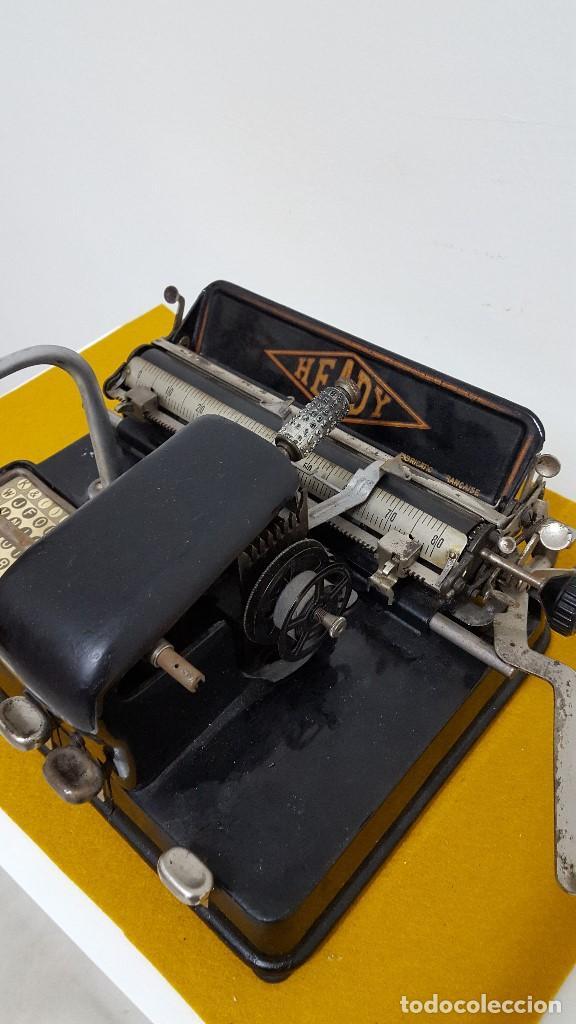 Antigüedades: Máquina de escribir HEADY. - Foto 3 - 164778782
