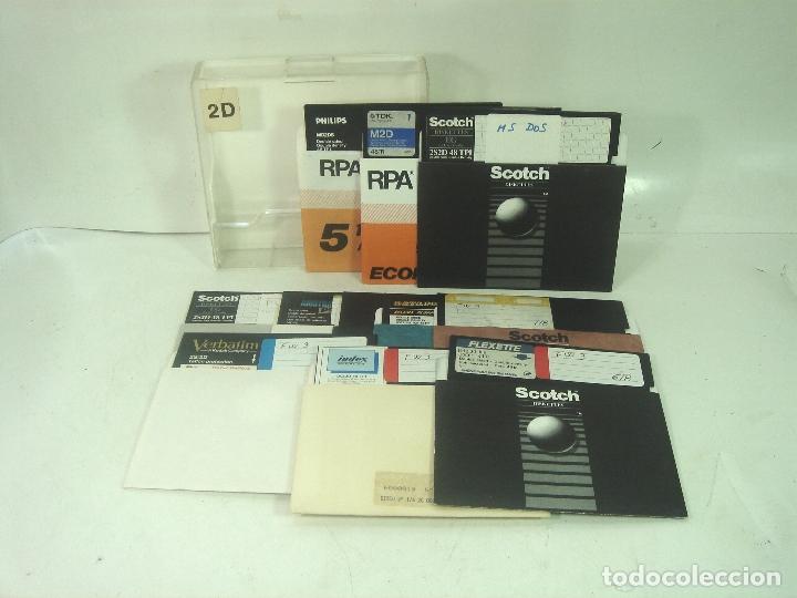 LOTE 11 DISQUETTE S 5.25 PULGADAS-CUARTO 1/4 -3M,AMSTRAD-VIRGENES-FLOPPY-DISQUETE DISCO DISQUET Y UN (Antigüedades - Técnicas - Ordenadores hasta 16 bits (anteriores a 1982))