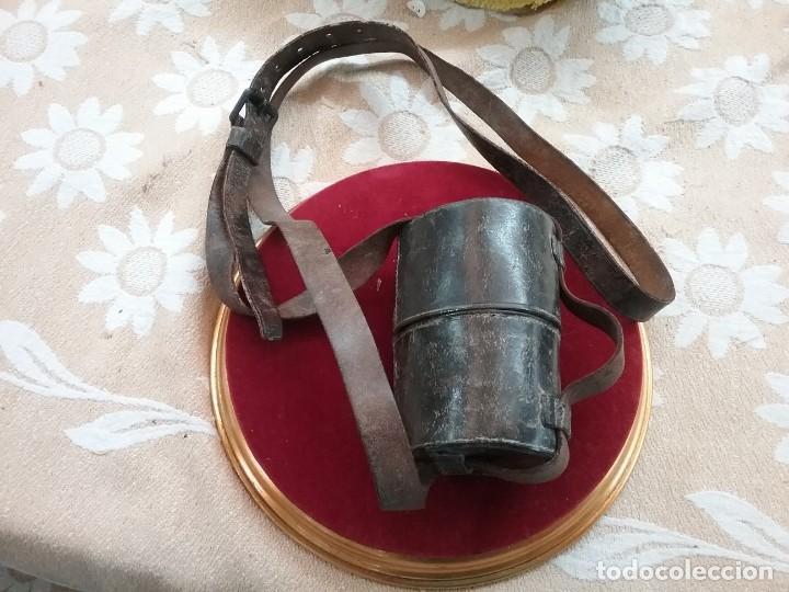 Antigüedades: CATALEJO NAVAL ANTIGUO 4 TRAZOS, CON FUNDA, FIRMADO POR M.WOERLE & KORLRUB. ( MUNCHEN). 20cm - Foto 4 - 164811686