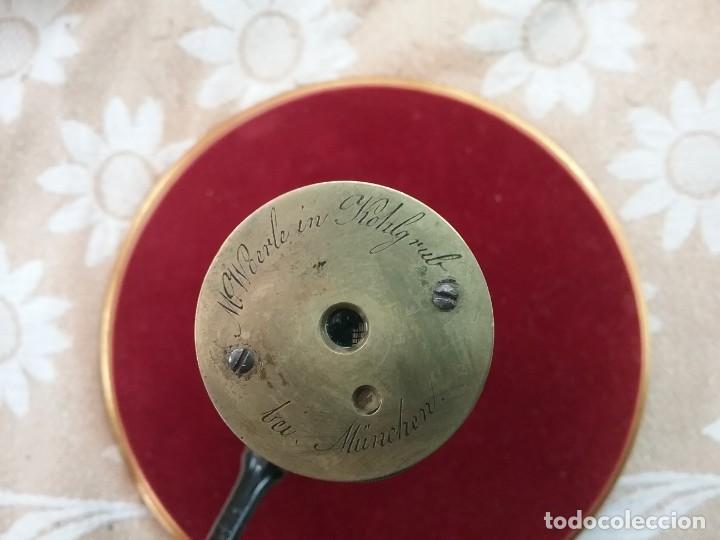 Antigüedades: CATALEJO NAVAL ANTIGUO 4 TRAZOS, CON FUNDA, FIRMADO POR M.WOERLE & KORLRUB. ( MUNCHEN). 20cm - Foto 2 - 164811686