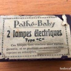 Antigüedades: PATHE BABY 2 LAMPES ELECTRIQUES. SIN ESTRENAR. Lote 164845386