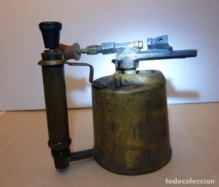 Antigüedades: SOPLETE DE GASOLINA TEIDE - Foto 2 - 164957090