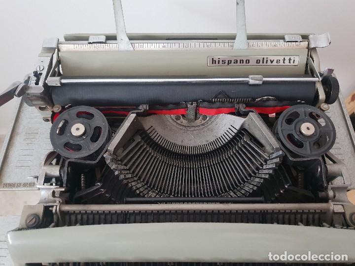 Antigüedades: Excelente máquina olivetti pluma 22 con su funda portatil - Foto 4 - 165045106