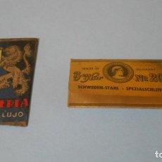 Antigüedades: 2 HOJAS ANTIGUAS DE AFEITAR. Lote 165056202