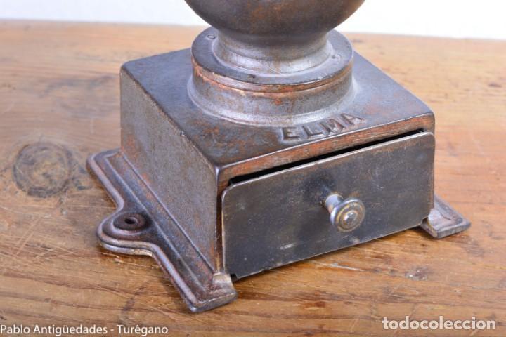 Antigüedades: Molinillo de Café antiguo marca ELMA número 0 - Excelente estado de conservación - Original - Foto 9 - 190511346