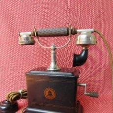Teléfonos: ANTIGUO TELÉFONO DE LA MARCA BELL TELEPHONE COMPANY FABRICADO ANVERS, BELGICA PRINCIPIOS DE SIGLO XX. Lote 165201882