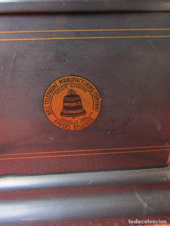 Teléfonos: Antiguo teléfono de la marca Bell Telephone Company fabricado Anvers, Belgica principios de siglo XX - Foto 3 - 165201882