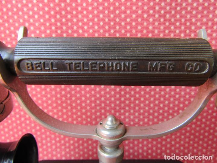 Teléfonos: Antiguo teléfono de la marca Bell Telephone Company fabricado Anvers, Belgica principios de siglo XX - Foto 5 - 165201882