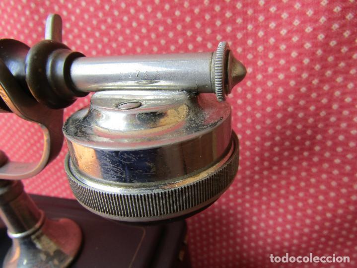 Teléfonos: Antiguo teléfono de la marca Bell Telephone Company fabricado Anvers, Belgica principios de siglo XX - Foto 6 - 165201882