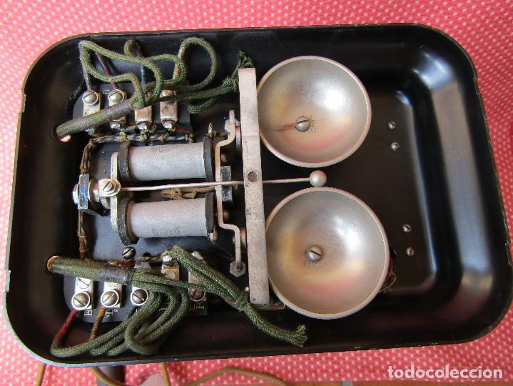 Teléfonos: Antiguo teléfono de la marca Bell Telephone Company fabricado Anvers, Belgica principios de siglo XX - Foto 7 - 165201882