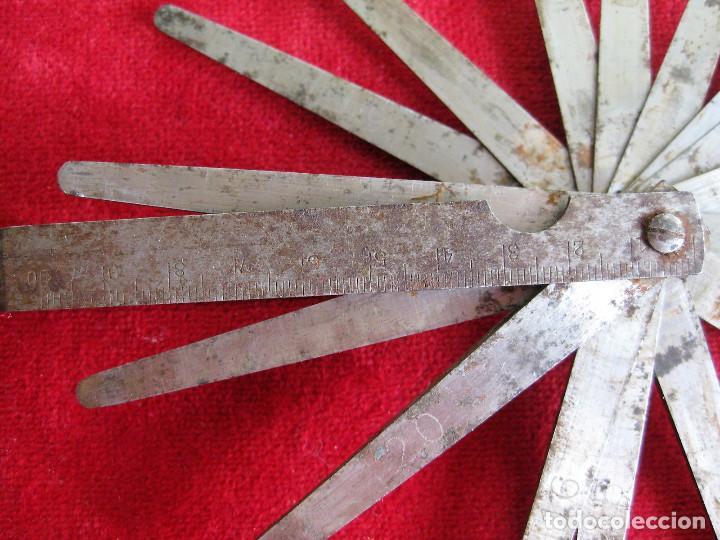 Antigüedades: GALGAS 20 UNIDADES MARCA TARSA SELLADA CON METRO EN LA BASE - Foto 4 - 165240498