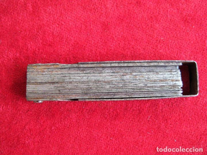Antigüedades: GALGAS 20 UNIDADES MARCA TARSA SELLADA CON METRO EN LA BASE - Foto 7 - 165240498