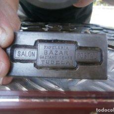 Antigüedades: ¡¡ PRECIOSO MOLDE DE IMPRENTA AÑOS 30-40¡¡PAPELERIA BAZAR SALON POSTAL((TUDELA)). Lote 165267834