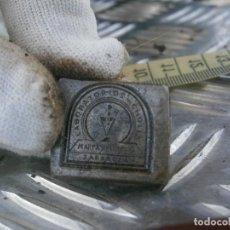 Antigüedades: ¡¡PRECIOSO MOLDE DE IMPRENTA AÑOS-30-40¡¡LABORATORIOS -CHOLIZ ((ZARAGOZA)). Lote 165271322