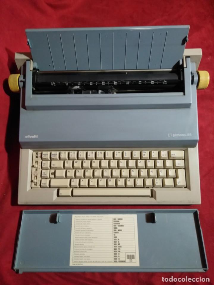 MAQUINA DE ESCRIBIR MODELO ET PERSONAL 55 ELECTRICA Y FUNCIONANDO (Antigüedades - Técnicas - Máquinas de Escribir Antiguas - Olivetti)
