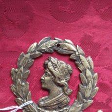 Antigüedades: ANTIGUA PLACA EMBELLECEDOR - REMATE DE MUEBLE - BRONCE -. Lote 165382481