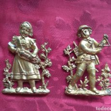 Antigüedades: PAREJA DE EMBELLECEDORES - REMATE DE MUEBLE - BRONCE - XIX -. Lote 165385761