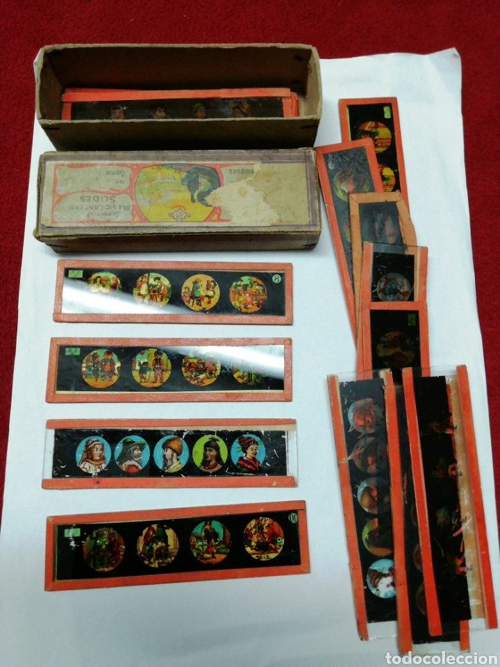 CRISTALES/PLACAS DE LINTERNA MAGICA (Antigüedades - Técnicas - Aparatos de Cine Antiguo - Linternas Mágicas Antiguas)