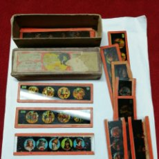 Antigüedades: CRISTALES/PLACAS DE LINTERNA MAGICA. Lote 165440188