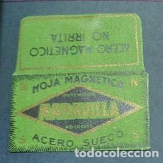 Antigüedades: FUNDA DE HOJA DE AFEITAR MARAVILLA, MUY RARA, RAZOR BLADE, LAMETTA DA BARBA, ENVOLTORI. Lote 165450642