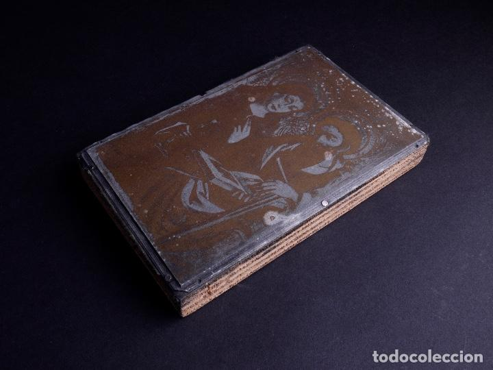 ZINCOGRABADO, CLICHE PARA IMPRESION. ESTAMPA RELIGIOSA (Antigüedades - Técnicas - Herramientas Profesionales - Imprenta)