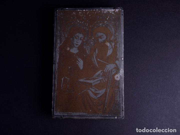 Antigüedades: ZINCOGRABADO, CLICHE PARA IMPRESION. ESTAMPA RELIGIOSA - Foto 3 - 165581946