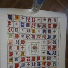 Antigüedades: LAMINA DE LAS BANDERAS QUE LAS NACIONES ARBOLAN EN LA MAR MUSEO DE LA MARINA EDICION 2132 EJEMPLARES. Lote 191359398